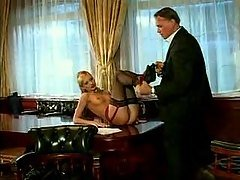 hot blonde fucked by her boss