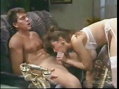 Vintage threesome with milf in s...