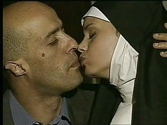 Nun gets fucked and takes facial...