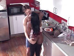 Sex in Kitchen with Busty Maid BVR