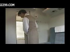 sexy train waitress fucked with ...