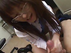 Sexy Office girl Enjoys Her Job-...