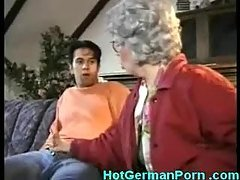 German grandmother catches her b...