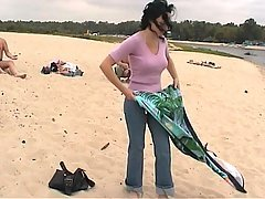 Public Nudity at beach nude