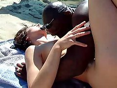 Wife getting fucked on beach 2 -...