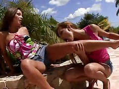 Naughty European lesbians have s...
