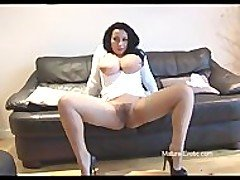 Busty mature babe panty play and...