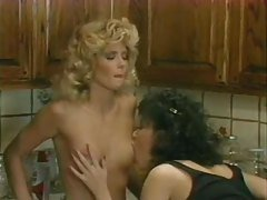 Vintage lesbos play in the kitchen