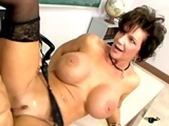Busty milf Deauxma gets drilled ...