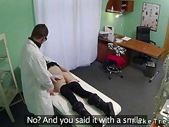 Brunette gets banged by a doctor