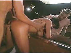 Holly Body doubleteamed on pool ...
