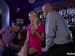 Boozed blonde gf cheating with o...