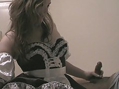French Maid Handjob