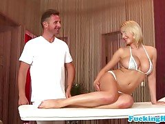 Massage loving busty euro babe p...
