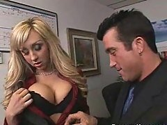 Boss with Big Tits Gives Her Emp...