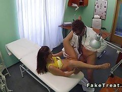 Doctor fucking small tits patient