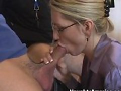 Busty teacher Emma Starr plugs a...