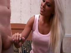 CFNM teen blows her mature studs...