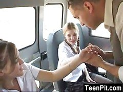 Teen Students Fucking On The Bus