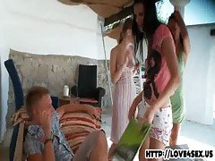 three chicks in blowjob competition