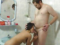 Girl Is Taking A Hot Shower Toge...