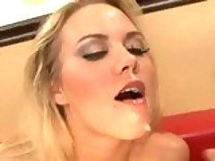 Cum hungry Sophia Lynn swallows ...
