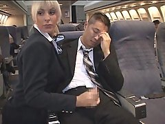 AirHostess gives Handjob