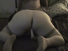 Amateur wife in stockings gives ...