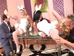 Nasty bunnies Debbie White and M...
