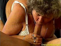 Crazy old mom fucked h...