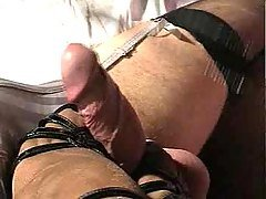 Mistress with high heels whips s...