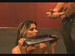 Girl drinks sticky-salty cum fro...