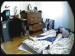 Hidden cam in bedroom of my sist...