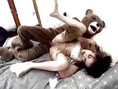 Teddy Bear Anals His Missis