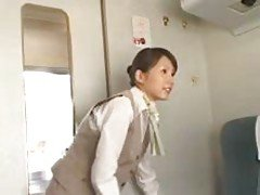 Bullet Train Stewardess VIP Fuck
