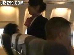 stewardess hard blowjob by plane...