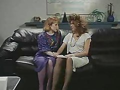 Retro Office Lesbians Pussy and ...