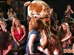 Fetish party with bear stripper