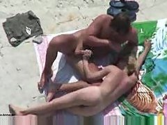 Blow on Beach Voyeur