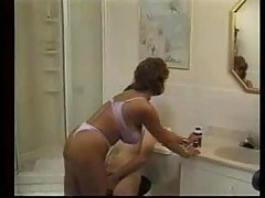 Horny Mom shaving Her new Boyfri...