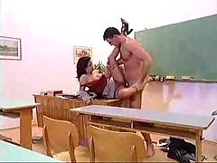 Tight Teacher Nailed In The Clas...