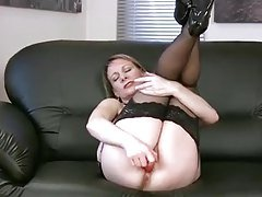 Raunchy Mom Masturbating With A ...