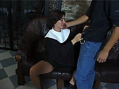 nun gets a pounding