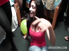 Excited college chicks having fu...