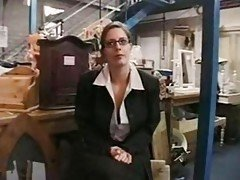 Horny Business women fucks cleaner