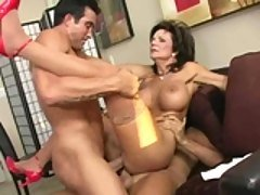 Busty Deauxma gets double penetr...