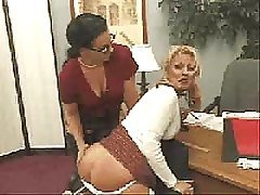 FF spanking on chair