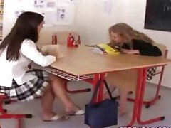 Schoolgirls lick young hot wet p...