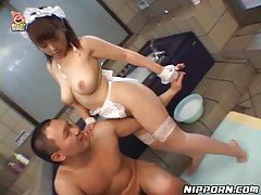 Japanese Maid And Her Slippery M...