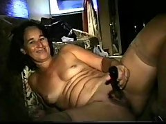 Amateur mature stockin...